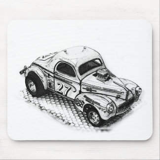 Willy 27 Hot Rod Mouse Pad