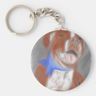 Willy the Pittie Basic Round Button Keychain