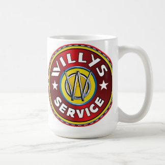 Willys authorized service sign coffee mug