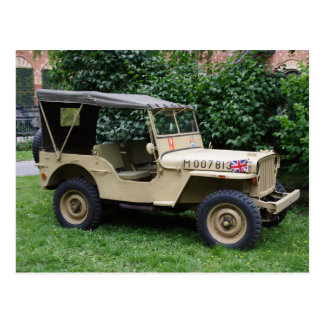 Willys Jeep Postcard