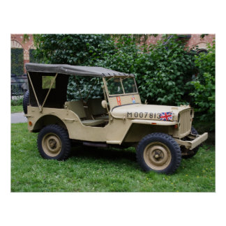 Willys MB Jeep Poster