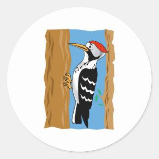 Wilmer Woodpecker Round Sticker