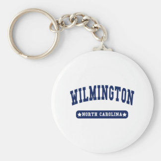 Wilmington North Carolina College Style tee shirts Basic Round Button Keychain