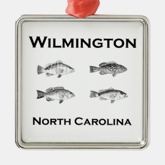 Wilmington North Carolina Fish (grouper) Metal Ornament