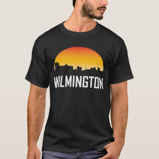 Wilmington North Carolina Sunset Skyline T-Shirt