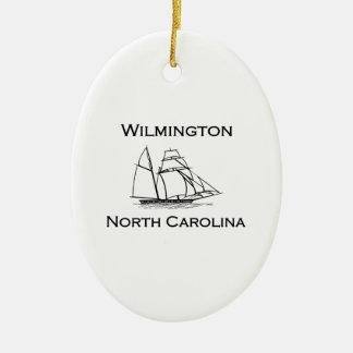 Wilmington North Carolina Tall Ship Ceramic Ornament