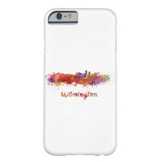 Wilmington skyline in watercolor barely there iPhone 6 case