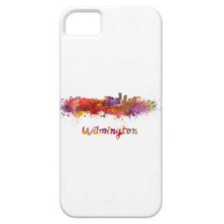 Wilmington skyline in watercolor iPhone 5 cover