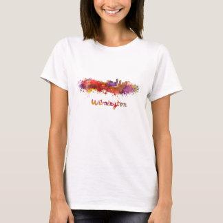 Wilmington skyline in watercolor T-Shirt
