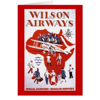Wilson Airways ~ Africa Card