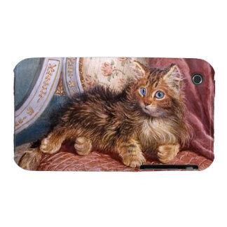 Wilson Hepple: Brown Kitten on an Armchair iPhone 3 Cover
