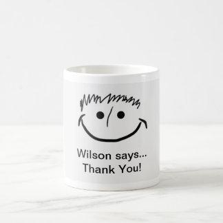 Wilson says Inspirational Thank You!! Coffee Mug