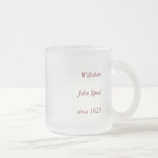 Wiltshire County Map, England Frosted Glass Coffee Mug