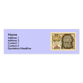 Wiltshire County Map, England Pack Of Skinny Business Cards