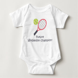 Wimbledon champion cute funny baby tennis bodysuit