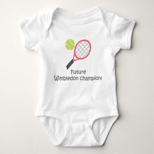 Wimbledon champion cute funny baby tennis bodysuit