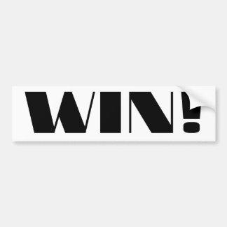 Win! Bumper Sticker