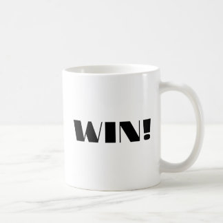 Win! Classic White Coffee Mug