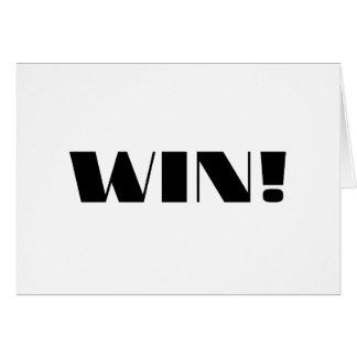 Win! Greeting Card