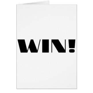 Win! Greeting Card