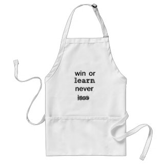 win or learn never lose standard apron