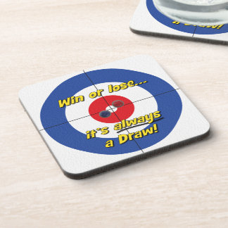 Win or lose Curler s Coasters - Blue