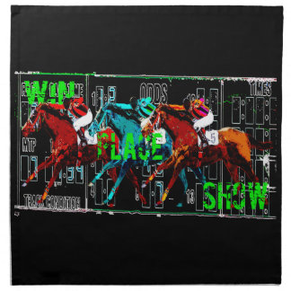 win place show horse racing napkin