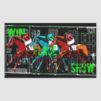 win place show horse racing sticker