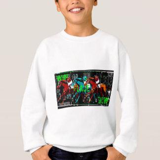 win place show horse racing sweatshirt