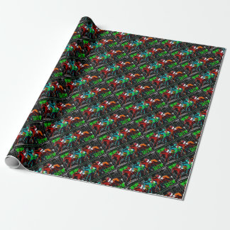 win place show horse racing wrapping paper