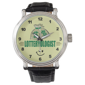 Win the Lottery! Funny Lottery Player's Wristwatches