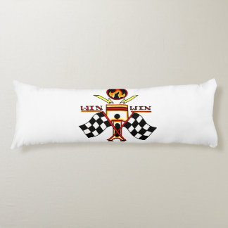 Win Win Men's Piston Checkered Racing Flag Body Pillow