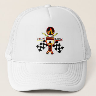 Win Win Men's Piston Checkered Racing Flag Trucker Hat