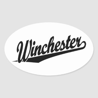 Winchester black oval sticker