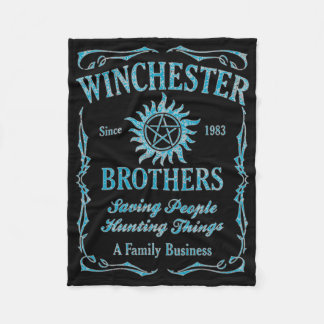 Winchester Brothers Since 1983 ( Light Blue) Fleece Blanket