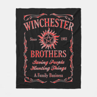 Winchester Brothers Since 1983 (Red) Fleece Blanket