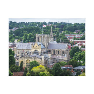 Winchester Cathedral view canvas print