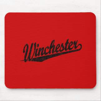 Winchester distressed black mouse pad