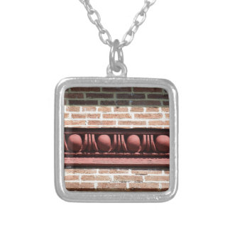 Winchester Egg and Dart Molding Silver Plated Necklace