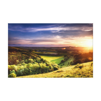 Winchester hill sunset UK Canvas Print