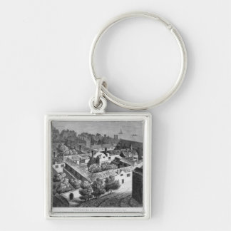 Winchester House, Southwark in about 1649 Silver-Colored Square Keychain