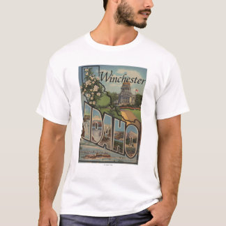 Winchester, Idaho - Large Letter Scenes T-Shirt