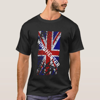 Winchester Peeling Paint Union Jack Flag T-Shirt