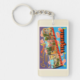 Winchester Virginia VA Old Vintage Travel Postcard Double-Sided Rectangular Acrylic Keychain