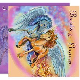 Wind and Flame Romantic Unicorn Invitations