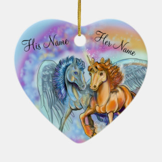 Wind and Flame Unicorn Pegasus~ornament Ceramic Ornament