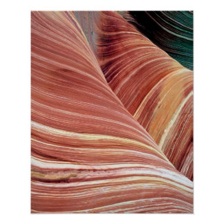 Wind and water eroded Navajo  sandstone in Poster