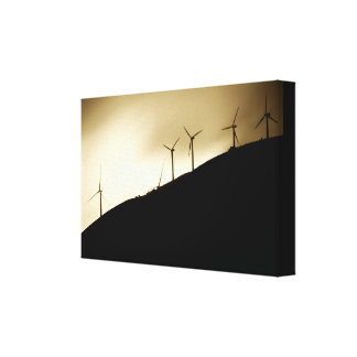 Wind at the mountain-slope canvas print