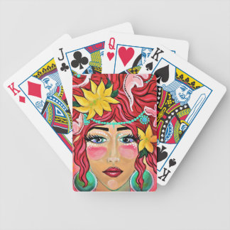 wind blown and sun kissed bicycle playing cards
