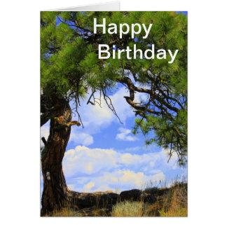 Wind Blown - Happy Birthday Card